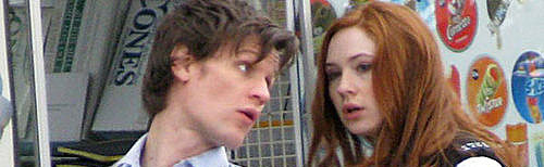 Matt Smith y Karen Gillan